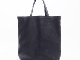 GoatLeatherHandbag(黒)/白糸/山羊革/HB007の画像