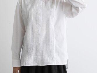 いつまでも愛せる 永遠の定番フロントピンタックシャツチュニック コットンシャツ 200901-1の画像