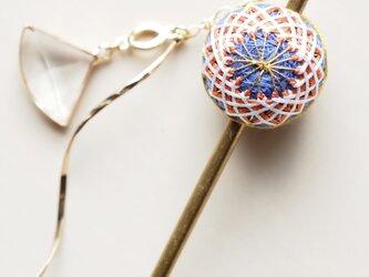 《受注制作》手毬かんざし(ポンポン菊)の画像