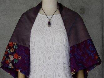 着物リメイク ボレロ/はおり フリーサイズ 紬の画像