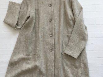 リネン丸衿コートの画像