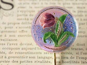 チェコ製ガラスボタンのポニーフック◎チューリップ【送料無料】の画像