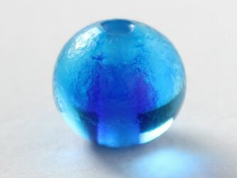 ガラスアクセサリー【群青】縞の小石 S144の画像