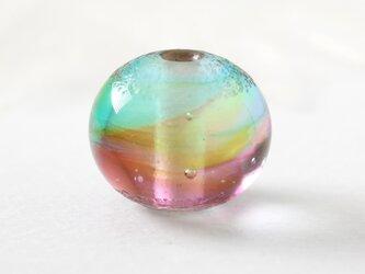 ガラスアクセサリー【彩】縞の小石 M129の画像