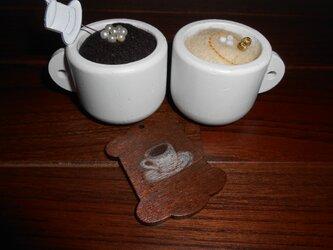 コーヒー飲みませんか?ピンクッションの画像