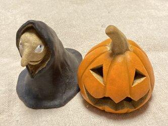 【K様専用 ハロウィンかぼちゃと魔女セット】の画像