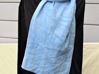 ダブルガーゼの藍染めストールBの画像