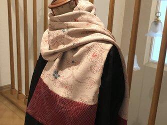 ヴィンテージ着物からストール 小春日和にの画像