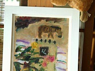 縞馬とバラの画像