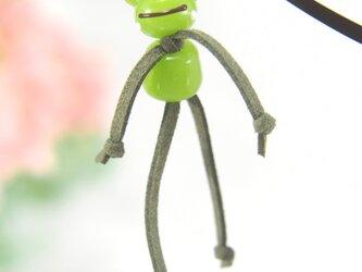 かえるのブックマーカー 緑 全身の画像
