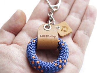 LOOP クライミングロープ フィンガーリング(ブルー)の画像
