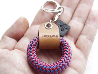 LOOP クライミングロープ フィンガーリング(パープルチェック)の画像