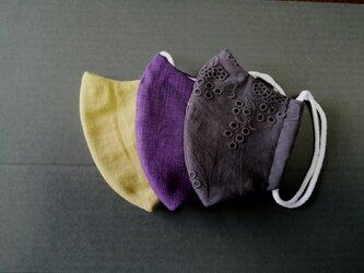 秋色布マスク3枚セットCの画像