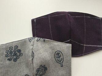 秋冬マスク 二枚セットの画像