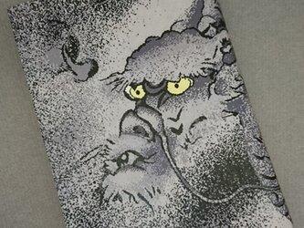 栞付き・和紙ブックカバー(文庫本サイズ)龍・黒の画像