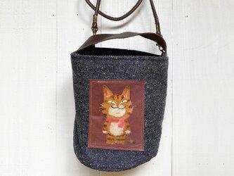 トラ猫バケツバッグ(ミニ)の画像