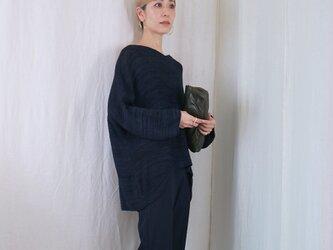 ◆即納◆Tarazed[タラゼド] ボクシー・セーター6 / ブルー系1 / Mサイズの画像