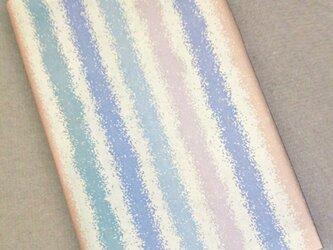 栞付き・和紙ブックカバー(新書サイズ) 縦縞模様の画像