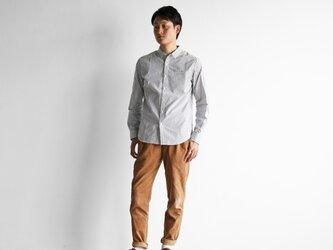 オーガニックコットンストライプシャツ(グレーストライプ)size2【ユニセックス】の画像