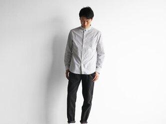 オーガニックコットンストライプシャツ(グレーストライプ)size3【ユニセックス】の画像