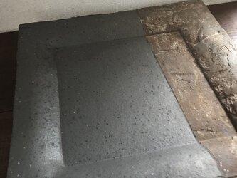 黒釉&泥彩掛け分け角大皿(現品のみ、旧作sale価格)の画像