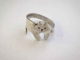 まとわりネコのリング_シルバーの画像