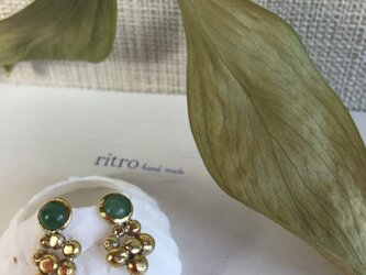 pierced earrings pave Nutsの画像