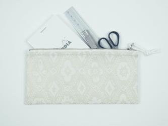 pouch 185F パール×白 ◆ 受注製作 ◆の画像