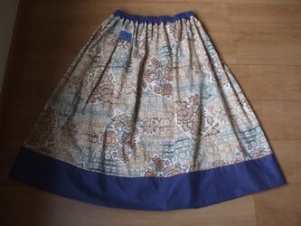 メリンスのギャザースカート メリンス(毛)と木綿の画像
