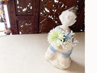 【オーダー送料無料】 花瓶フラワーポット全身像の画像