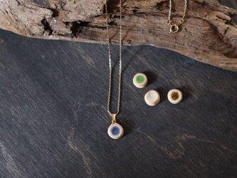 【信楽焼】輝く宝石-スタッド- 陶器 伝統工芸 ネックレス アクセサリーの画像