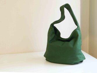 しっとり質感本革製品後染めLUAショルダー(LA001)#greenの画像