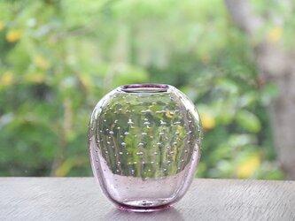 ぷつぷつ泡花瓶(まるピンク)の画像