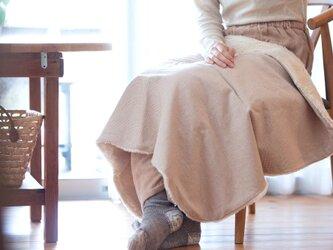 Organic Cotton Fur ブランケット【ブラウンコットンチェック】の画像