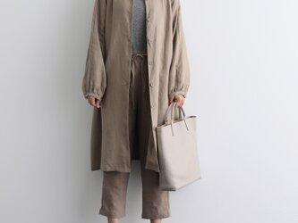 ふんわり着たい、秋色羽織り ワンピース ベルト付き 長袖ワンピース 三色200910-2の画像