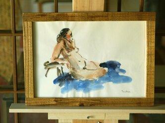 裸婦水彩画-1の画像