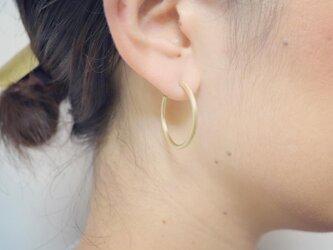フープピアス Lサイズ 両耳用 真鍮製の画像