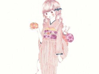 ☆「着物日和 パンプキン」ポストカード2枚セットの画像