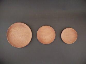 【特別セット価格】皿 神山杉 大・中・小の3枚セット 木彫りの画像