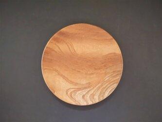 小~中皿 ケヤキ 木彫りの画像