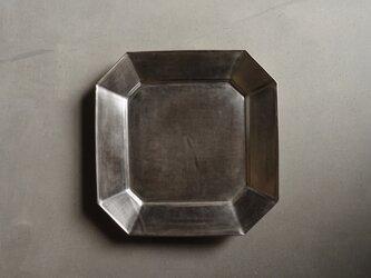 銀彩八角プレート Lの画像