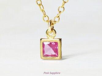 上品な輝き。ピンクサファイアのネックレス [送料無料]の画像
