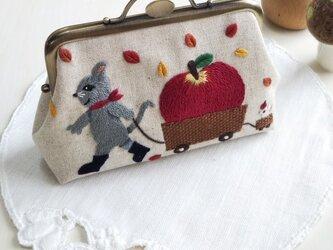 『大きなリンゴ』のがま口の画像