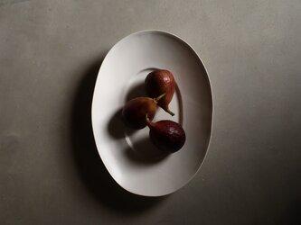 ワイドリムオーバル皿 Lの画像
