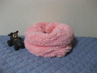 プードルボアスヌード《ピンク》の画像