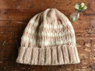 ゆったりニット帽子(アルパカ&ウール)の画像