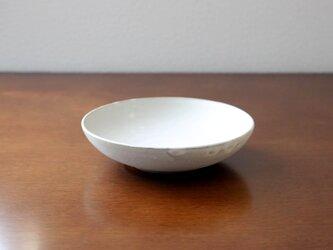 赤土と白マット釉のお皿 * 3の画像