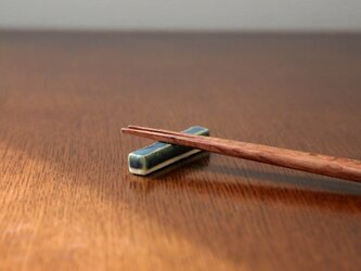藍色乳濁釉の箸置きの画像