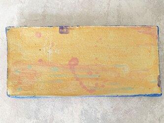 26cm長皿 魚皿 秋刀魚皿 オレンジの画像