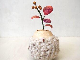 5105.bud 粘土の鉢植え お包みの画像